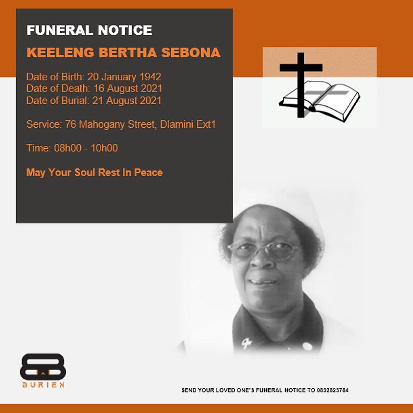 Funeral Notice Of The Late Keeleng Bertha Sebona