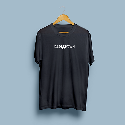 NAVY SHORTSLEEVE UNISEX PARISTOWN TEE - MADE IN USA