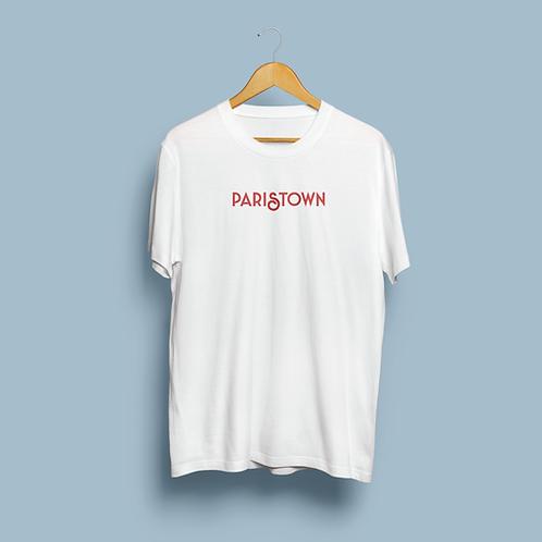 WHITE / RED SHORTSLEEVE UNISEX PARISTOWN TEE