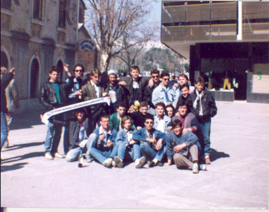 away 1990 Split, DZ fans before match vs  hajduk (Zaprude lads).jpg
