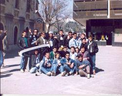 away 1990 Split, DZ fans before match vs  hajduk (Zaprude lads).jpg