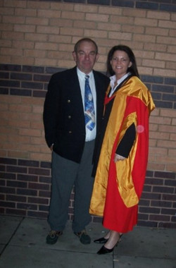Doctorate Graduation with Dad 2003