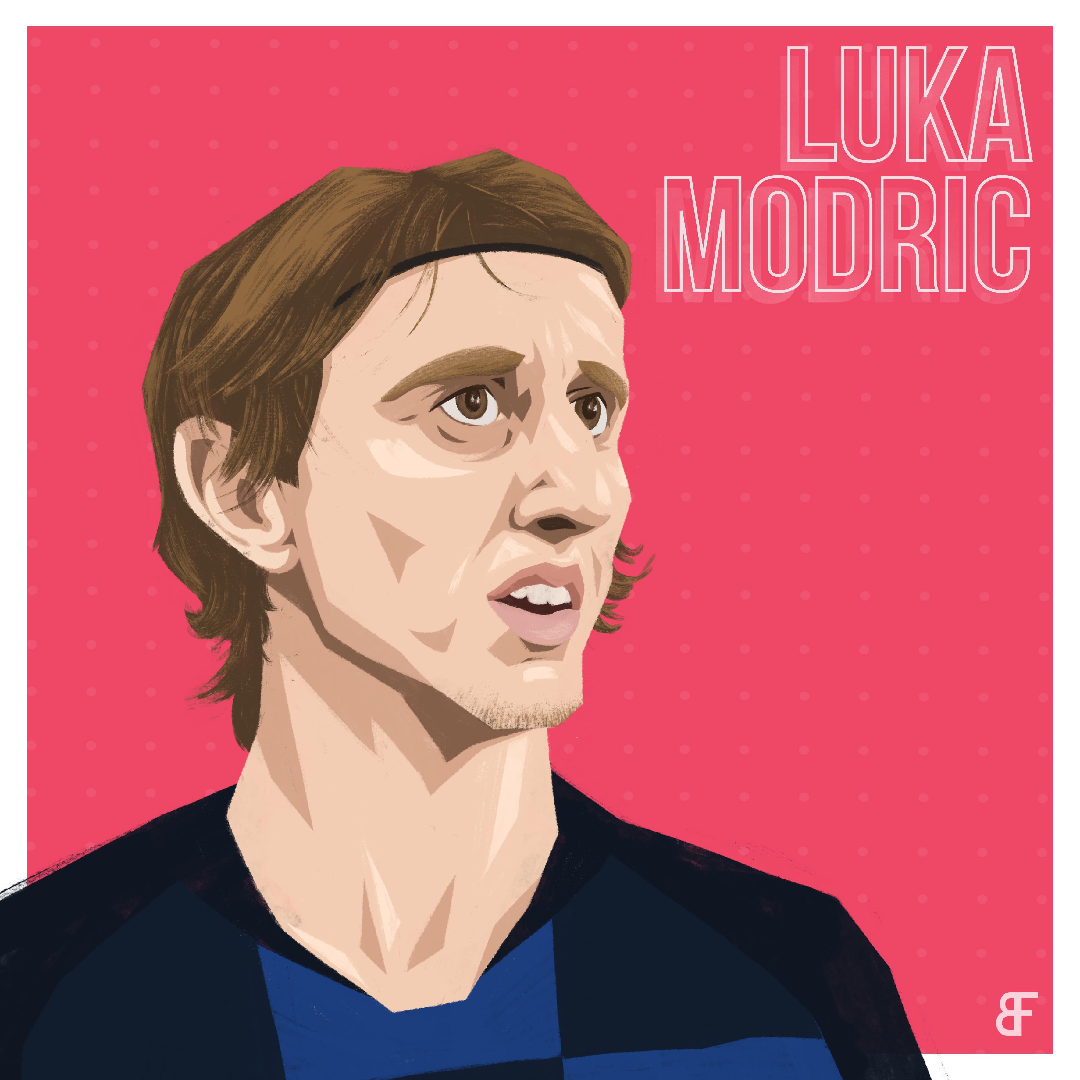 Luka modric portrait