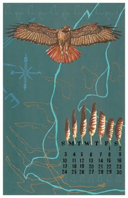 Red Tailed Hawk Calendar