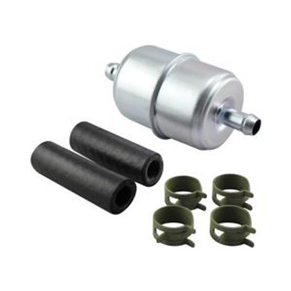 Baldwin BF836-K3 In-Line Fuel Filter with Clamps and Hoses