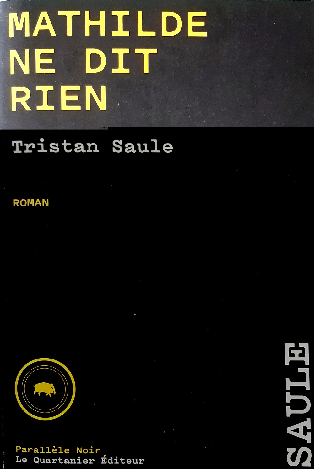 """Mathilde ne dit rien"" de Tristan Saule"