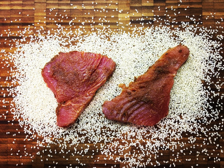 10 Minute Meal: Sesame-Coated Miso Tuna