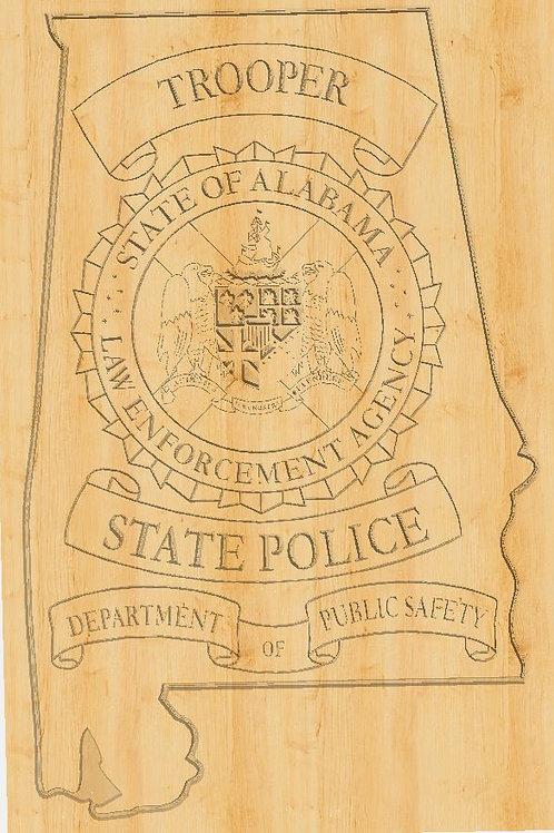 State Trooper Alabama Plaque