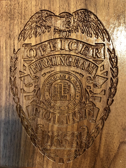 Birmingham Police Badge Desk or Wall Art