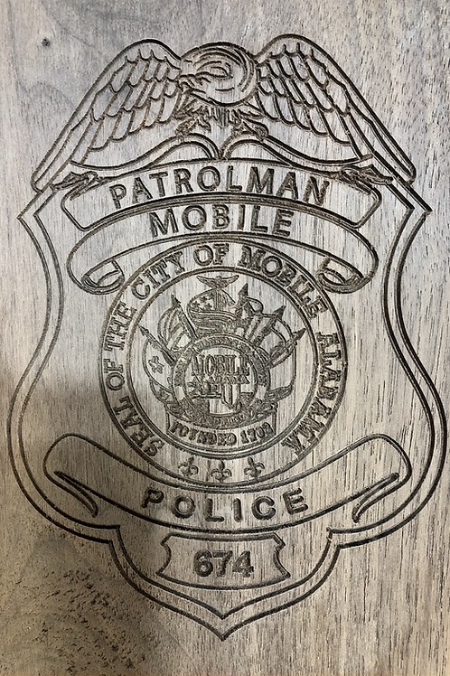 Mobile Police Badge Plaque