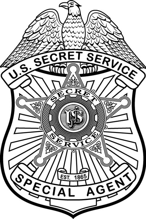 U.S. Secret Service Badge Plaque