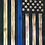 Thumbnail: Medium Wooden Rustic Thin Blue Line Flag w/ Epoxy blue stripe (13 in X 24.75 in)