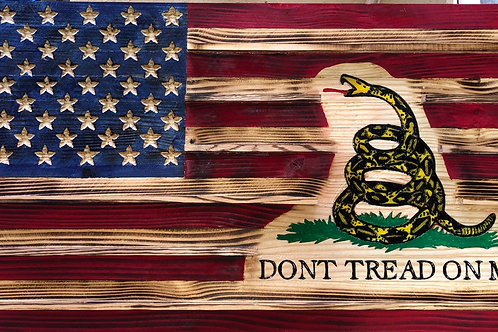 Custom Large Wooden Rustic Flag (19.5 in x 38 in)