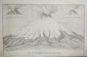 """""""El Cotopaxi visto del lado Oeste"""" por Teodoro Wolf."""