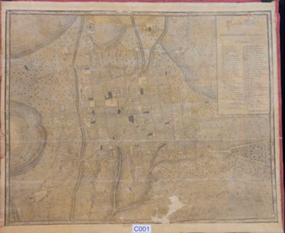 """""""Plano de Quito"""" planeado por el P. Juan B. Menten."""
