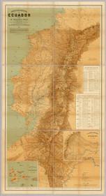 """""""Mapa nacional del Ecuador"""" por Teodoro Wolf."""