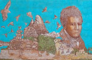 """""""La ruta de Humboldt"""" Ilustración de Geracho Arias."""