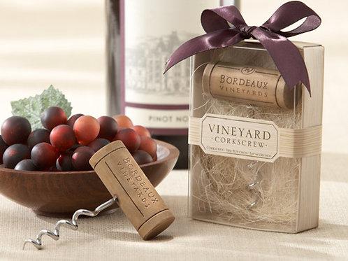 """Bordeaux Vineyards"" Stainless-Steel Corkscrew"