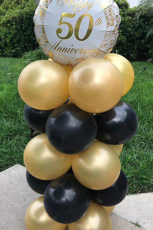 Anniversary Balloon Column