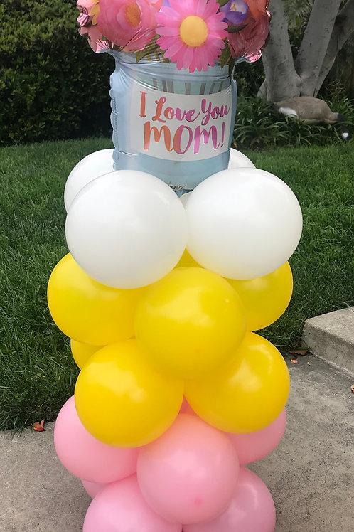 Mother's Day Balloon Column