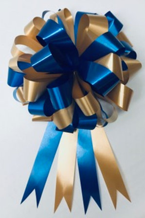 Blue and Gold Bow