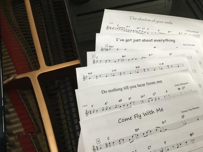 ジャズボーカリストのための譜面販売