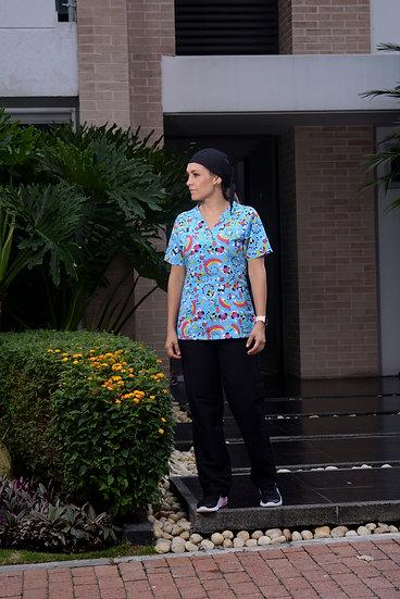 Blusa Antifluido Rainbow Minnie