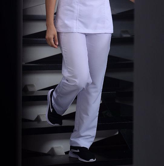 Pantalón Antifluido Blanco Puro