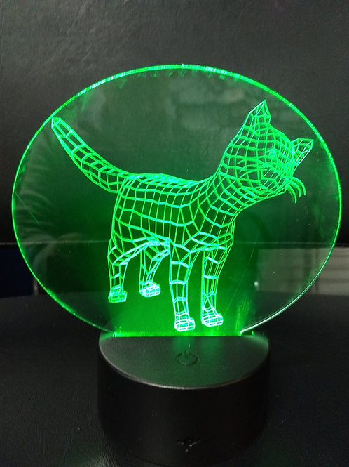 3D cat nightlight