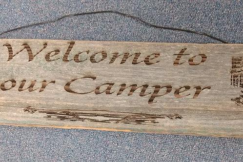 Barn Wood Sign camper