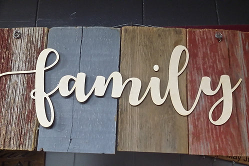 Barn wood sign family