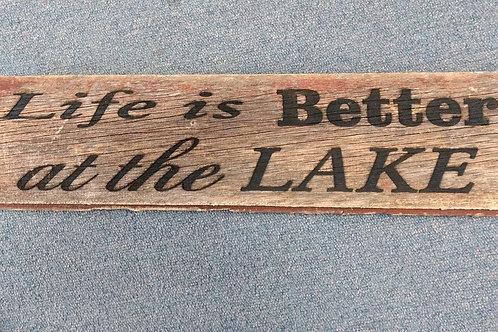 Barn Wood sign at the lake