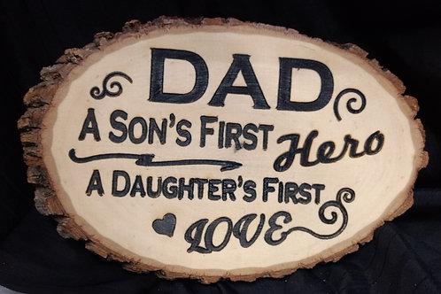 Wood sign Dad