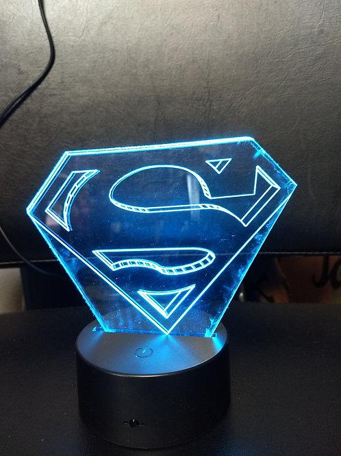 3D spider man logo night light