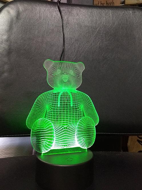 3D bear nightlight