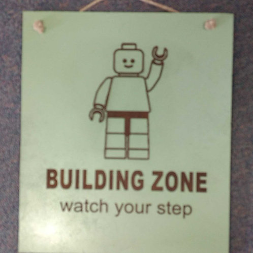 Kids sign building zone