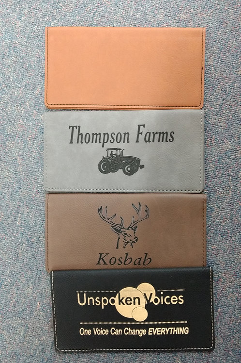 Leathette Checkbook covers