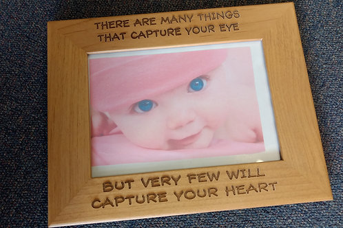 Wood frame captue your heart