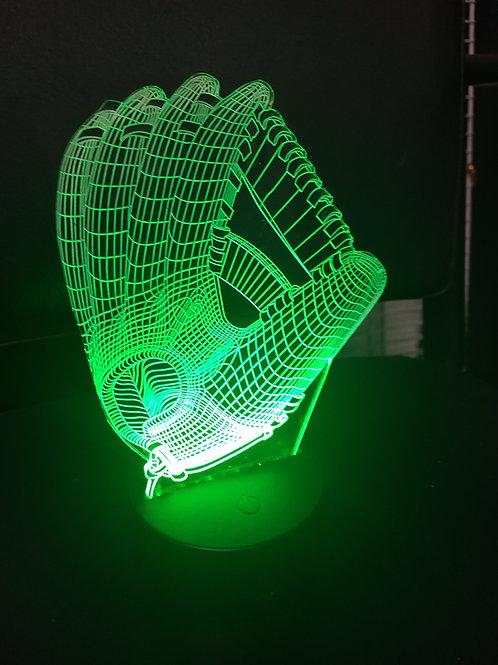 3D baseball  glove nightlight