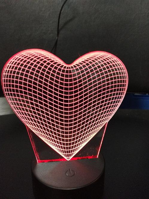 3D Heart night light