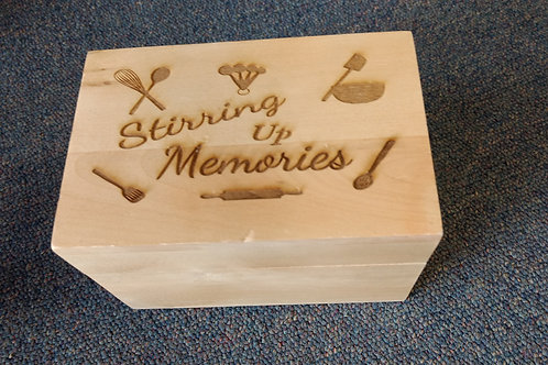 Recipe box stirring up memories utensil assort