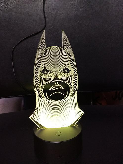 3D Batman face nightlight