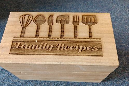 Recipe box family recipes utensils