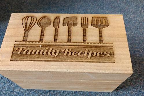 Recipe box family recipes utensils