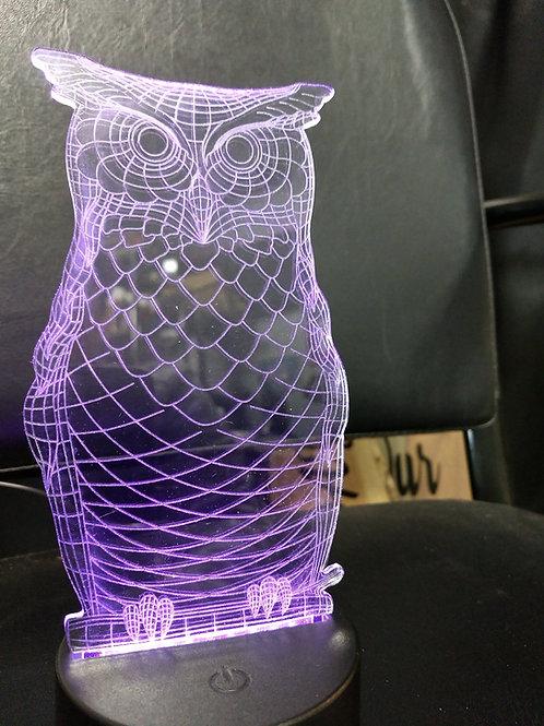 3D owl nightlight