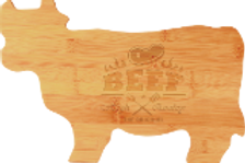 Bamboo Cow Cutting Boards