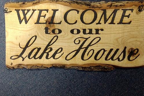 Wood Sign lake house