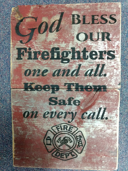 Firefighters sign