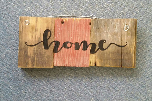 Home barn wood sign