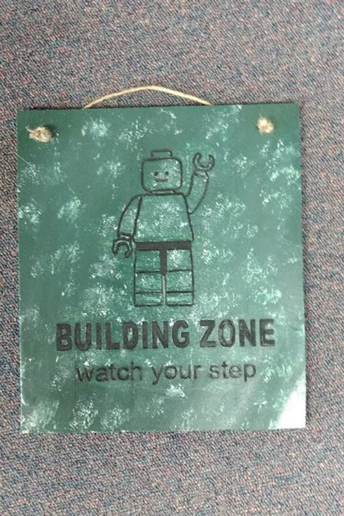 Building Zone Sign